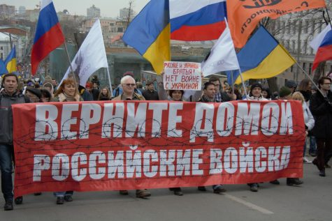 March 15 protests, named the March of Peace, took place in Moscow a day before the Crimean referendum.