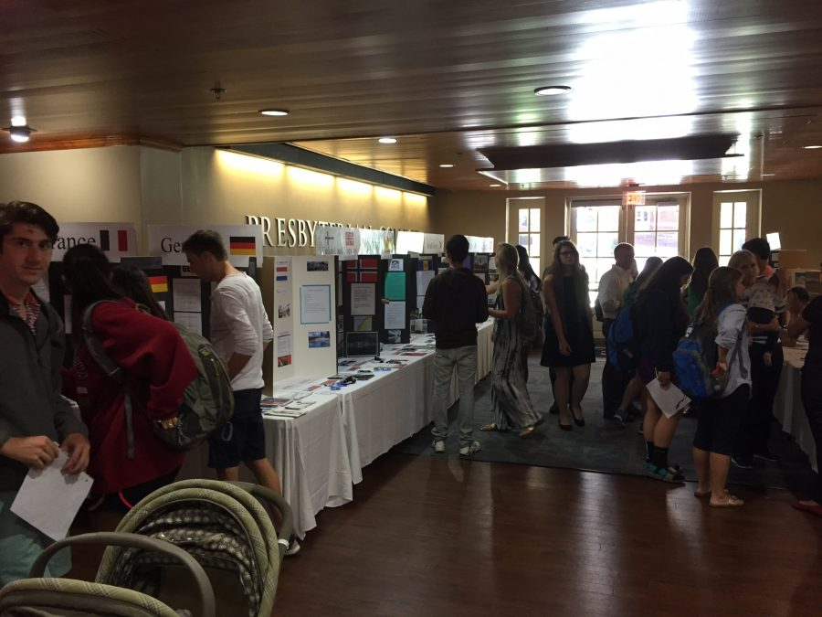 Students explore at the Study Abroad Fair