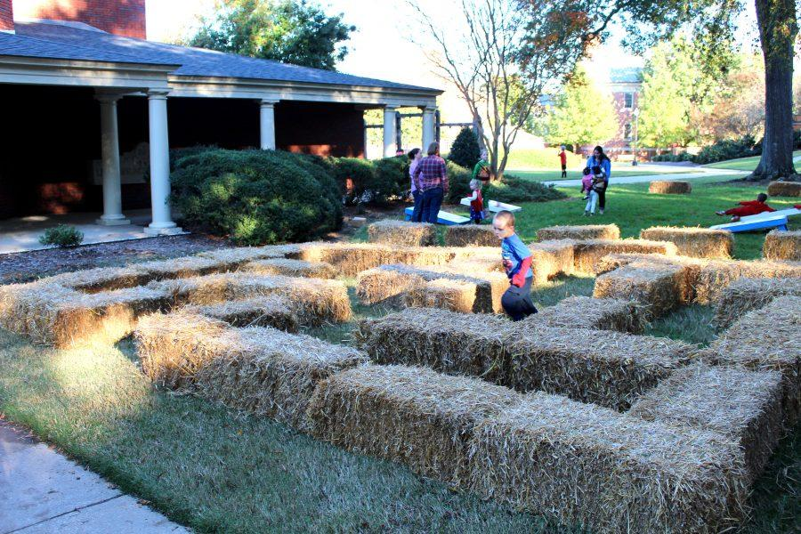 A hay maze for the Thornwell kids to run through