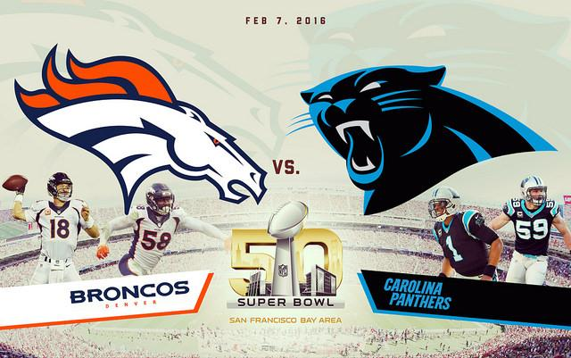 Photo+of+the+logos+for+the+two+Super+Bowl+50+teams%2C+the+Broncos+and+the+Panthers