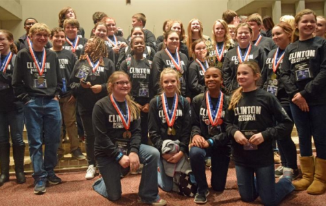 Photo of CMS Science Olympiad Team after becoming state champs