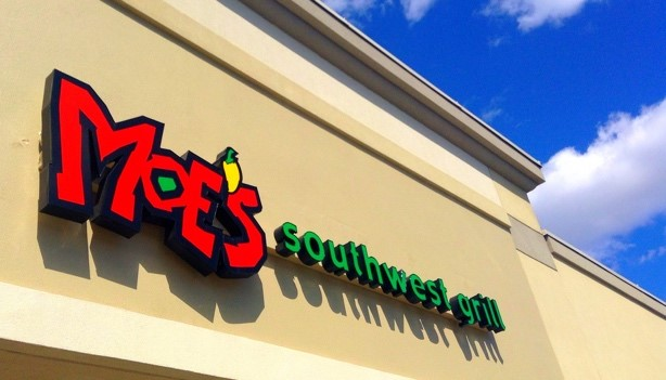Photo of the sign at Moe's Southwest Grill