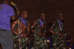 New members of Omega Psi Phi at the 2017 Probate. | Credit: Darrell Bridges