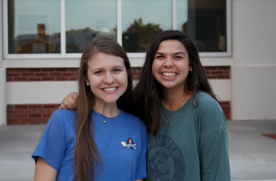 What+is+one+thing+that+surprised+you+about+PC%3F+How+open+the+professors+are+to+help+you.+Sarah+Smith+%28left%29%2C+freshman+Pre-Pharmacy+major.+With+Madison+Ladines+%28right%29.+Photograph+by+Alex+Barrus.
