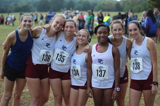Members of the Womens Cross Country team during the September 2 meet.