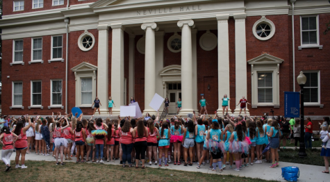 As Assistant Director of Student Involvement and Greek Life, Lisa McCoy helps to oversee Sorority Bid Day.