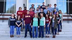 Some of the many Greek Life students at PC.