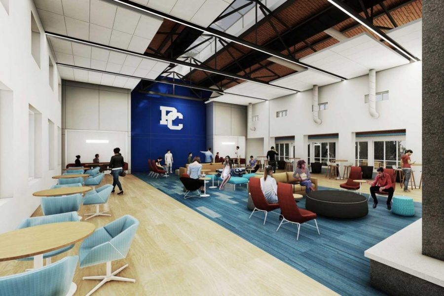 What used to be the old Springs gym is now a space for studying, congregating, and RSO meetings.