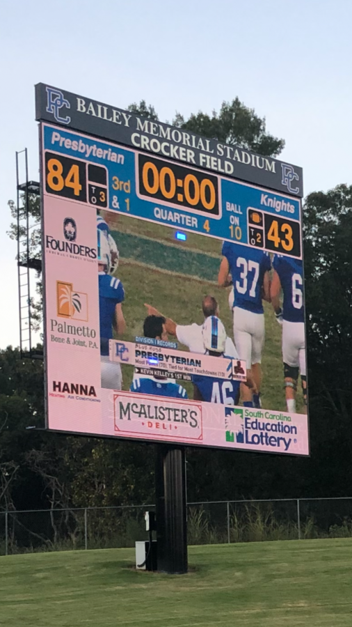 Kevin Kelley broke several Division I FCS records in his first game as the Blue Hose head football coach. Photo © Mitchell Mercer.