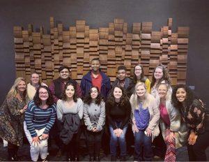 Stephanie Keene and Amy Davis with a group of Presby First+ students. © Stephanie Keene